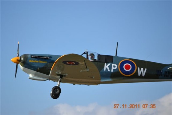 Replica full size Spitfire aircraft built by English Engineering, Cairns