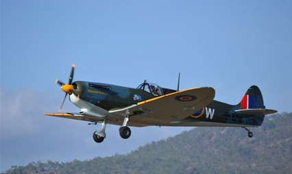IMAGE OF SPITFIRE BUILT BY PAT ENGLISH OF ENGLISH ENGINEERING CAIRNS